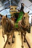 Transporte do cavalo do vintage - museu do transporte de Londres Fotos de Stock