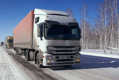 Transporte do frete pelo caminhão Fotografia de Stock Royalty Free