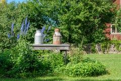 Transporte do leite do vintage Fotografia de Stock Royalty Free