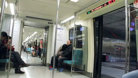 Transporte do metro de Taipei HD filme