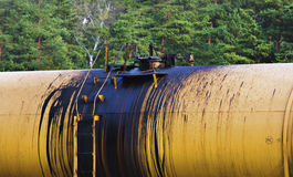 Transporte do petróleo de dano a o meio ambiente Fotografia de Stock Royalty Free