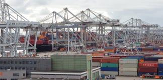 Transporte do porto de Rottterdam imagem de stock royalty free