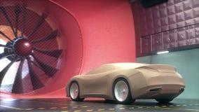Transporte do projeto do carro da argila do túnel de vento ilustração royalty free