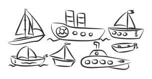 Transporte do rio e de mar Fotografia de Stock Royalty Free