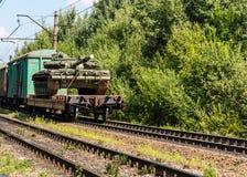 Transporte do tanque Fotografia de Stock