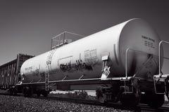 Transporte do trem de mercadorias do trilho fotografia de stock royalty free