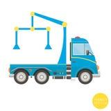 Transporte dos desenhos animados Ilustração do caminhão de reboque Vista do lado Imagem de Stock