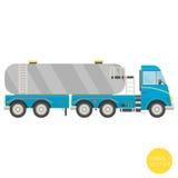 Transporte dos desenhos animados Ilustração do caminhão de tanque Vista do lado Fotografia de Stock Royalty Free