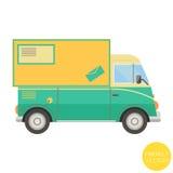 Transporte dos desenhos animados Ilustração postal do caminhão Vista do lado Foto de Stock