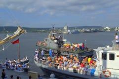 Transporte dos participantes da raça de Galata-Varna Imagem de Stock