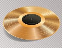 Transporte dourado de LP 3D Ilustração do Vetor