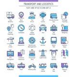 Transporte e ícones logísticos 02 ilustração stock