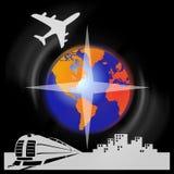 Transporte e curso Fotografia de Stock