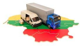 Transporte e entrega no conceito de Lituânia, rendição 3D ilustração royalty free