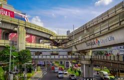 Transporte e trânsito em Banguecoque, Tailândia Imagens de Stock Royalty Free