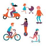 Transporte eléctrico y mecánico personal libre illustration