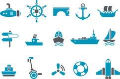 Transporte el conjunto del icono Fotos de archivo libres de regalías