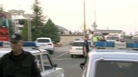 Transporte el estacionamiento y la policía en el aeropuerto Burgas, Bulgaria