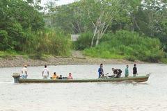 Transporte en Amazonia Imagen de archivo libre de regalías