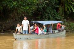 Transporte en Amazonia Fotografía de archivo