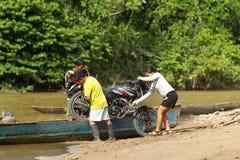 Transporte en Amazonia Imagenes de archivo