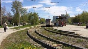 Transporte en Cheliábinsk almacen de metraje de vídeo