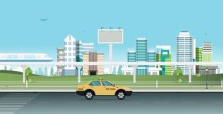 Transporte en la capital ilustración del vector