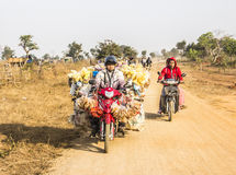 Transporte en la moto fotos de archivo