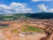Transporte en mina de carbón Fotografía de archivo libre de regalías