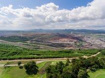 Transporte en mina de carbón Fotos de archivo libres de regalías