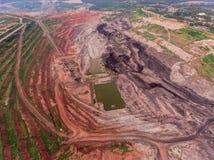 Transporte en mina de carbón Foto de archivo