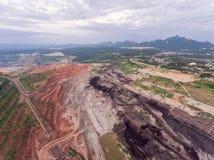 Transporte en mina de carbón Imagen de archivo libre de regalías