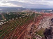 Transporte en mina de carbón Fotografía de archivo