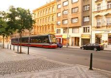 Transporte en Praga Imagenes de archivo