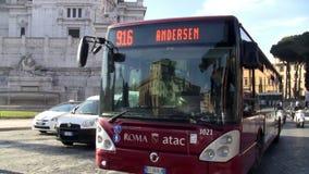Transporte en Roma céntrica Italia metrajes