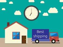 Transporte exato rápido ilustração stock