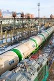 Transporte ferroviario del petróleo Imagen de archivo libre de regalías