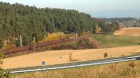 Transporte ferroviario en el país, almacen de metraje de vídeo