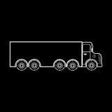 Transporte grande do caminhão de cargas pesadas Foto de Stock Royalty Free