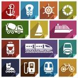 Transporte icon-01 plano Fotografía de archivo