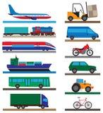 transporte Iconos planos Fotografía de archivo libre de regalías