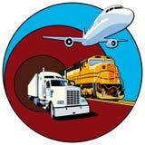 Transporte II da carga ilustração royalty free