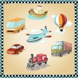 Transporte ilustrado ilustração stock