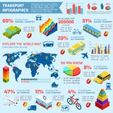 Transporte Infographics isométrico ilustración del vector