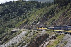 Transporte interior de Alaska pelo trem Fotos de Stock Royalty Free