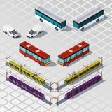 Transporte isométrico Imagenes de archivo