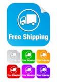 Transporte livre, etiquetas quadradas foto de stock