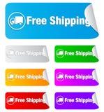 Transporte livre, etiquetas retangulares imagens de stock royalty free