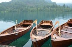 Transporte local en el lago sangrado Fotografía de archivo