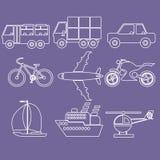 Transporte los iconos Fotos de archivo